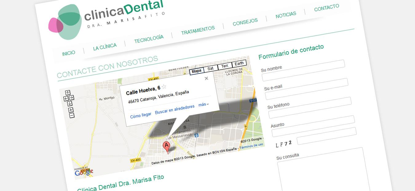 captura-pantalla-contacto-clinica-dental-marisa-fito