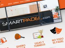 Captura de la pantalla de inicio de la web de reservas online del club de padel Smart Padel de Castellón
