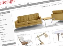 Captura de pantalla de la página principal de la tienda online Eyedesign