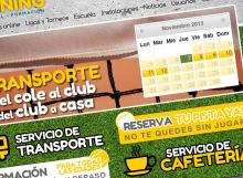 Captura de pantalla de la web de reservas online del club de tenis y padel Good Training de Zaragoza