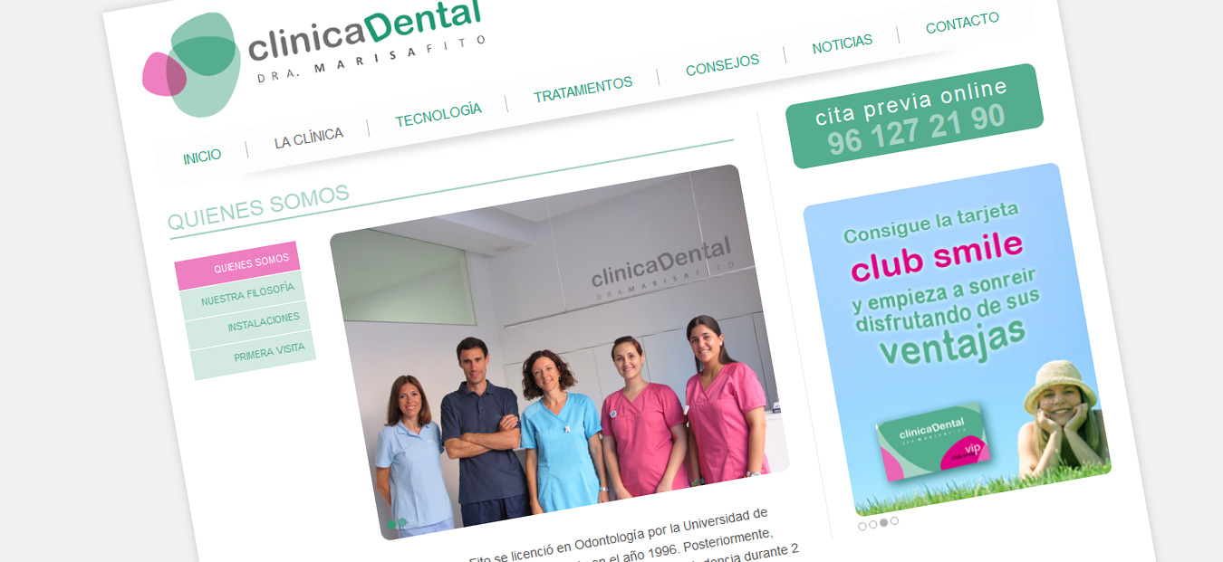 captura-pantalla-quienes-somos-web-clinica-dental-marisa-fito-catarroja