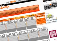 Captura de la pantalla de partidas en la web de reservas online del club de padel Padel Club Valencia